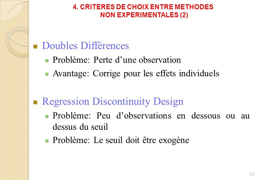 4. CRITERES DE CHOIX ENTRE METHODES