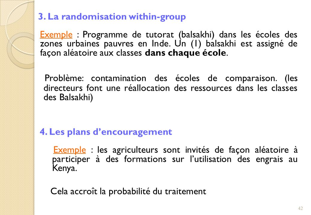 3. La randomisation within-group