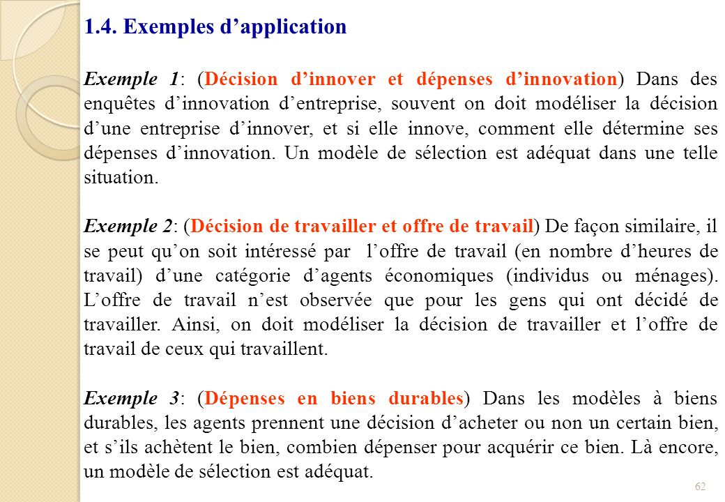 1.4. Exemples d'application