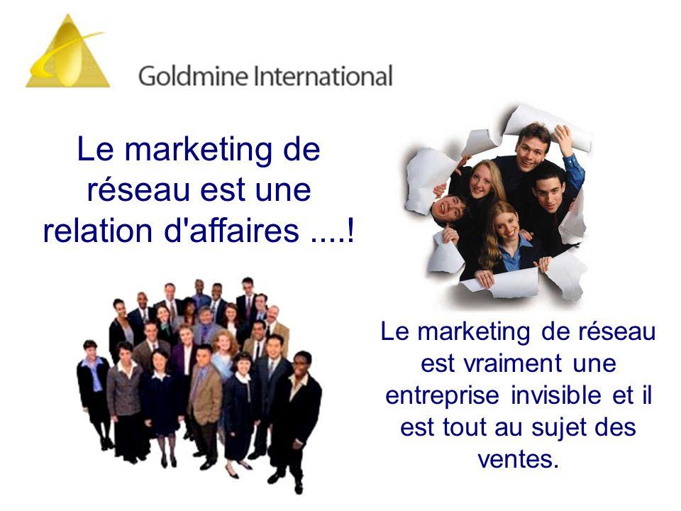 Le marketing de réseau est une relation d affaires ....!