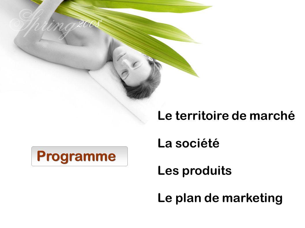 Programme Le territoire de marché La société Les produits
