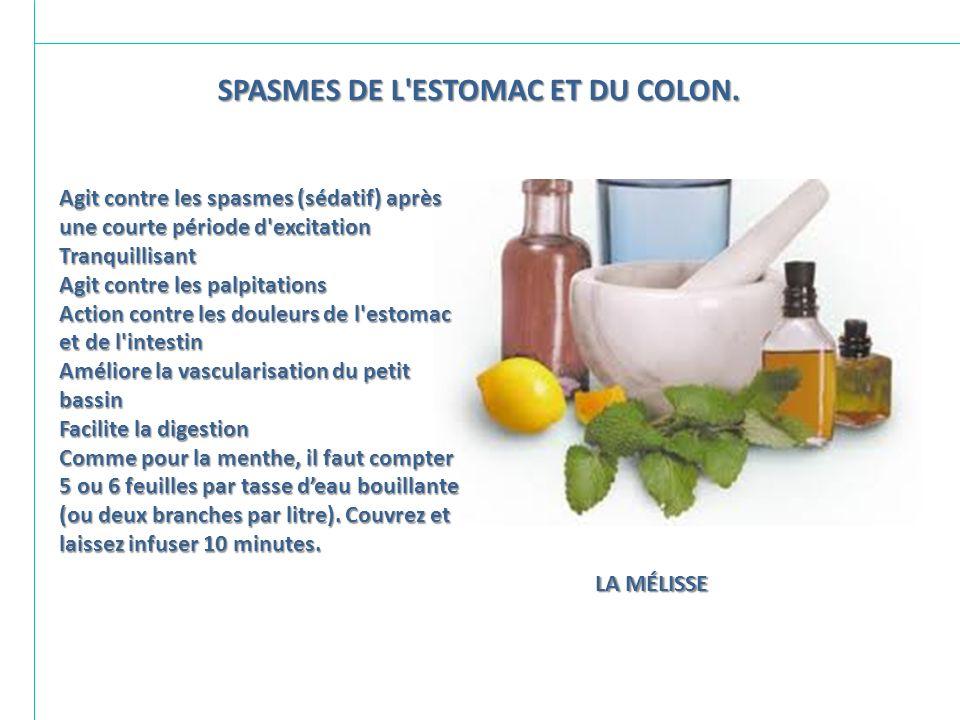 SPASMES DE L ESTOMAC ET DU COLON.