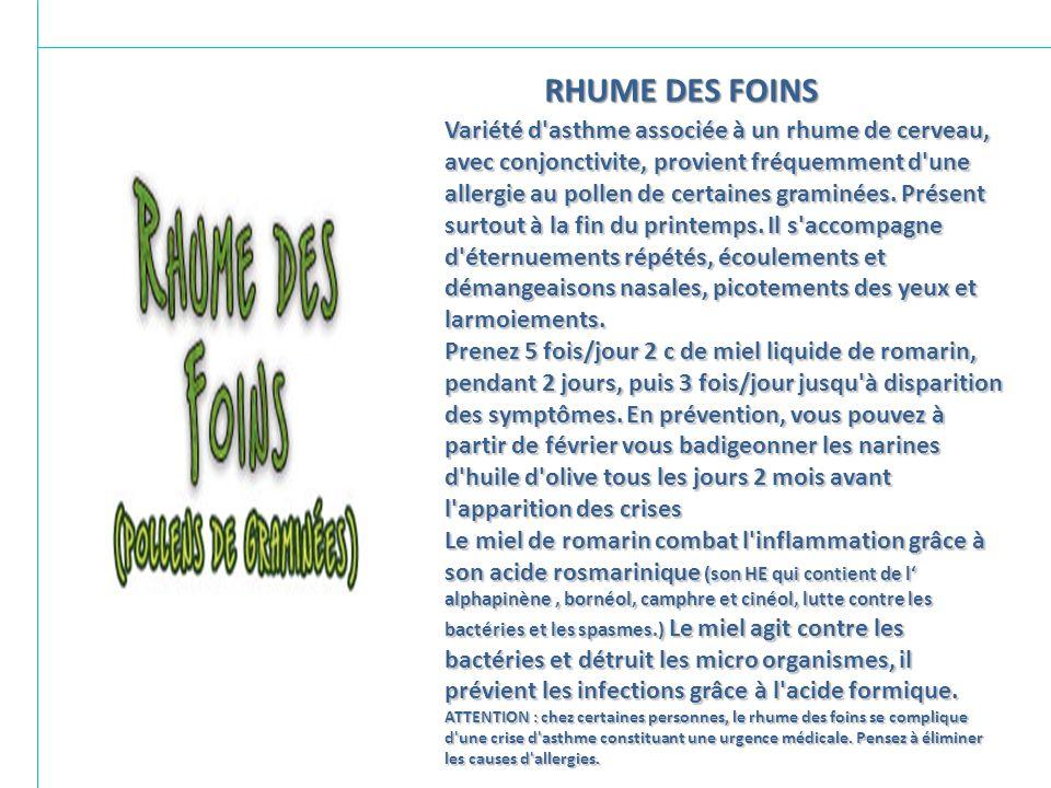 RHUME DES FOINS