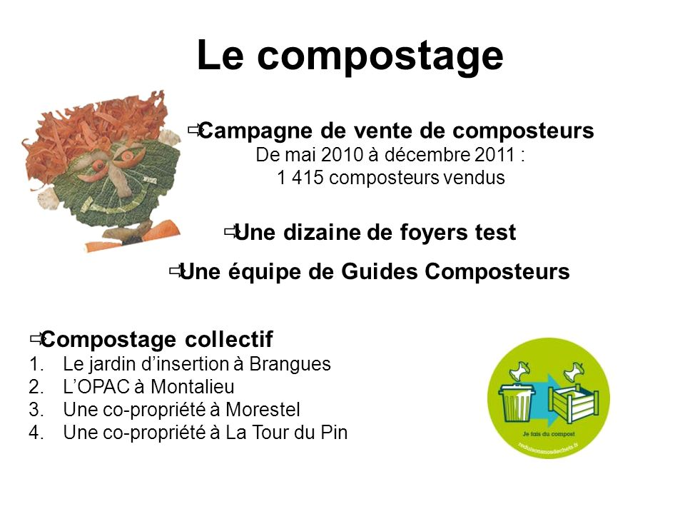 Le compostage Campagne de vente de composteurs