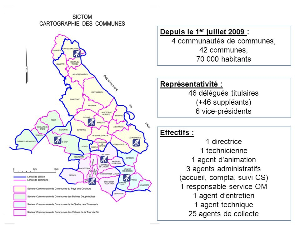 4 communautés de communes, 42 communes, 70 000 habitants