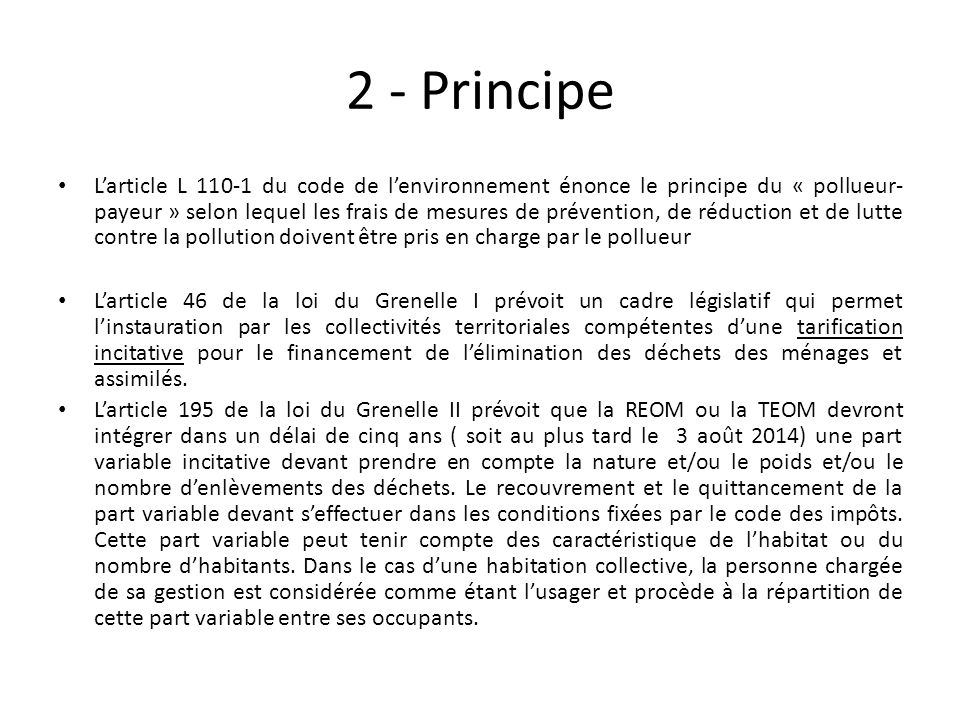 2 - Principe