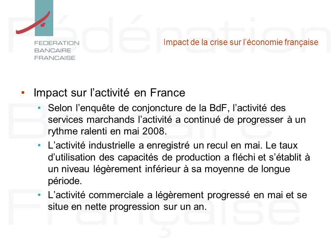 Impact de la crise sur l'économie française