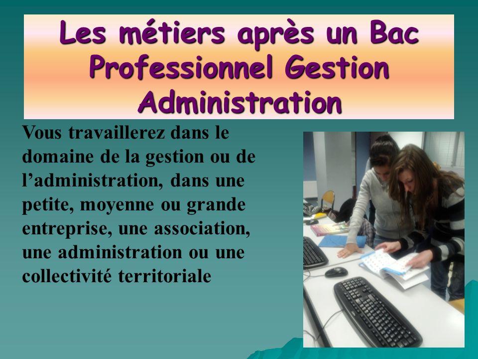 Les métiers après un Bac Professionnel Gestion Administration