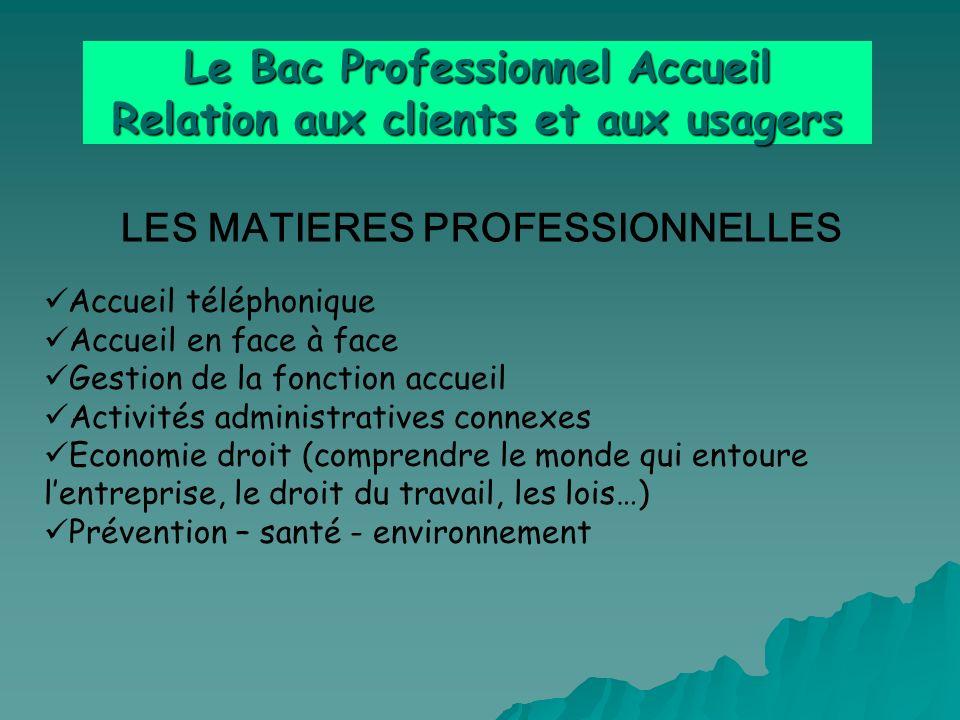 Le Bac Professionnel Accueil Relation aux clients et aux usagers