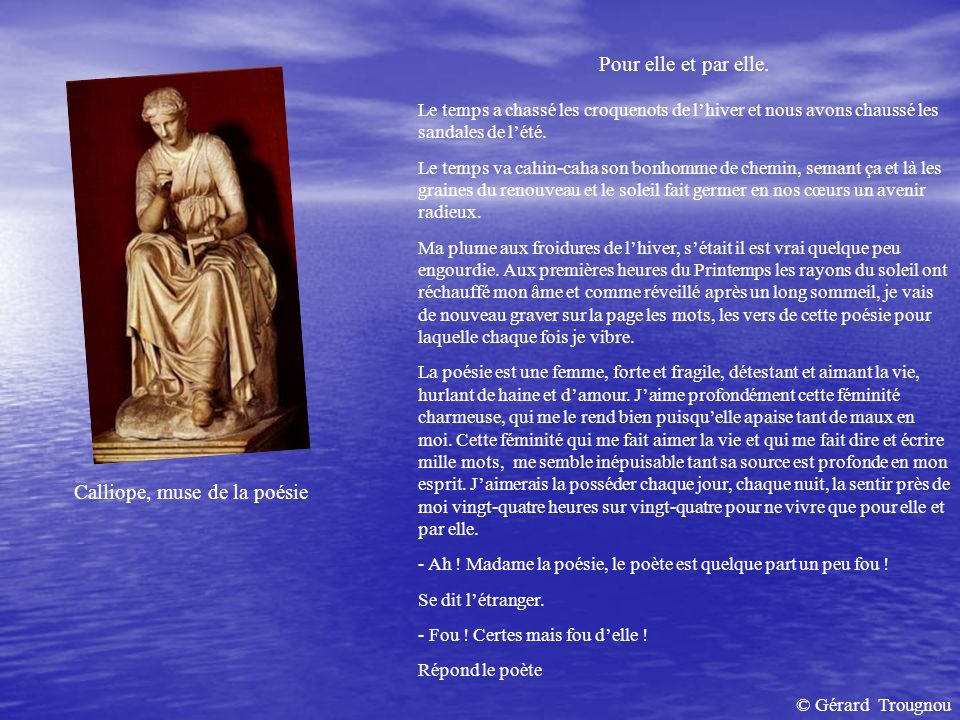 Calliope, muse de la poésie