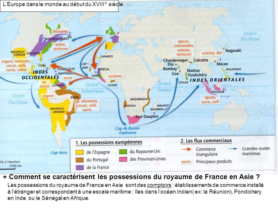 L'Europe dans le monde au début du XVIII° siècle