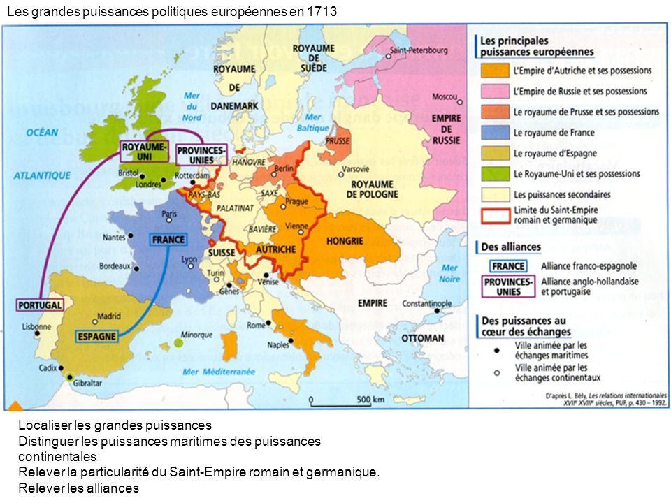 Les grandes puissances politiques européennes en 1713