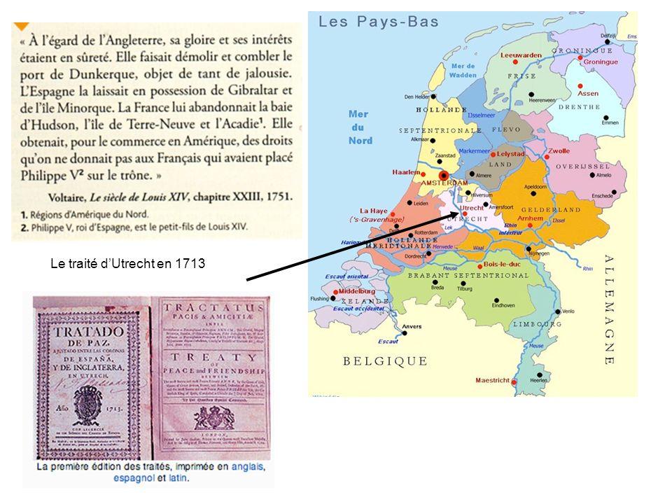 Le traité d'Utrecht en 1713