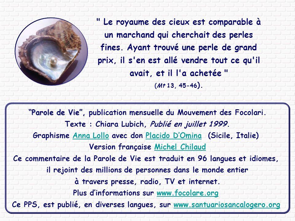 Parole de Vie , publication mensuelle du Mouvement des Focolari.