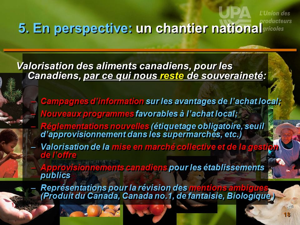 5. En perspective: un chantier national