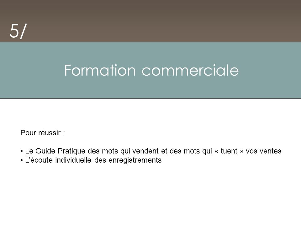 Formation commerciale