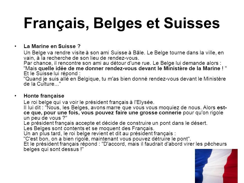 Français, Belges et Suisses