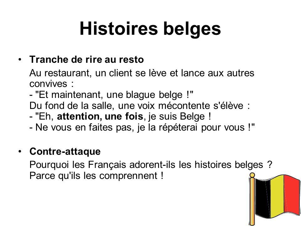 Histoires belges Tranche de rire au resto