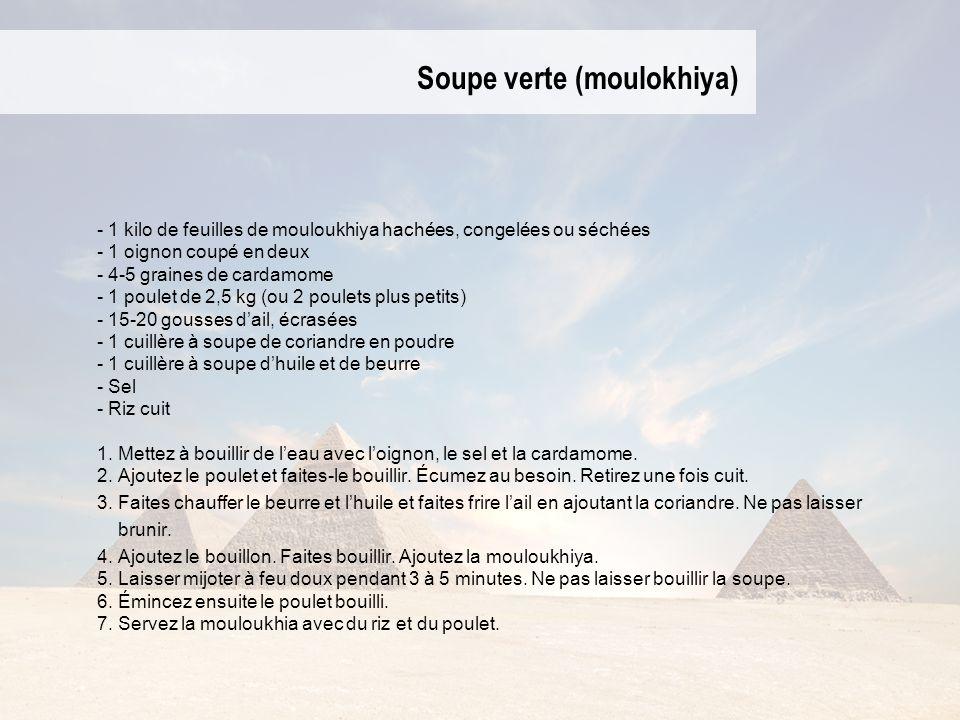 Soupe verte (moulokhiya)