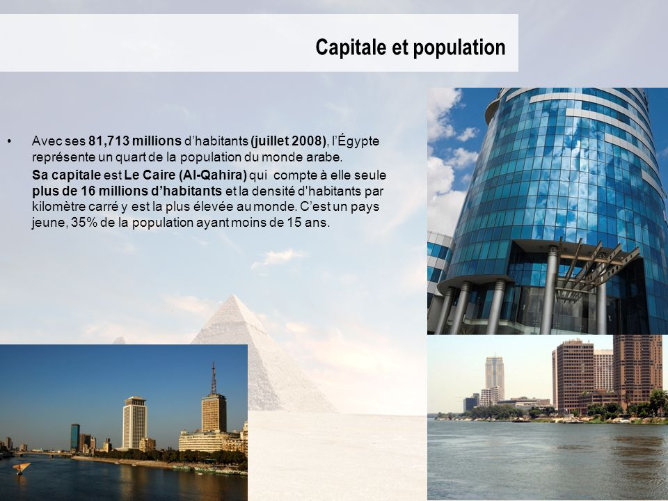 Capitale et population