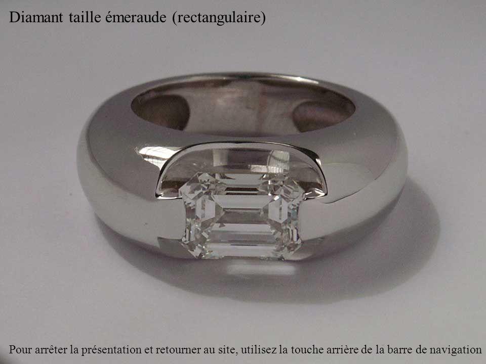 Diamant taille émeraude (rectangulaire)