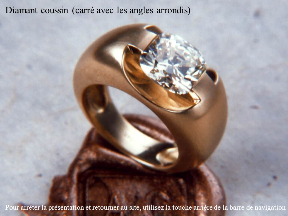 Diamant coussin (carré avec les angles arrondis)