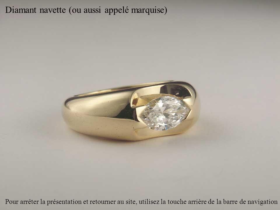 Diamant navette (ou aussi appelé marquise)