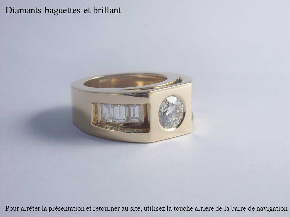 Diamants baguettes et brillant
