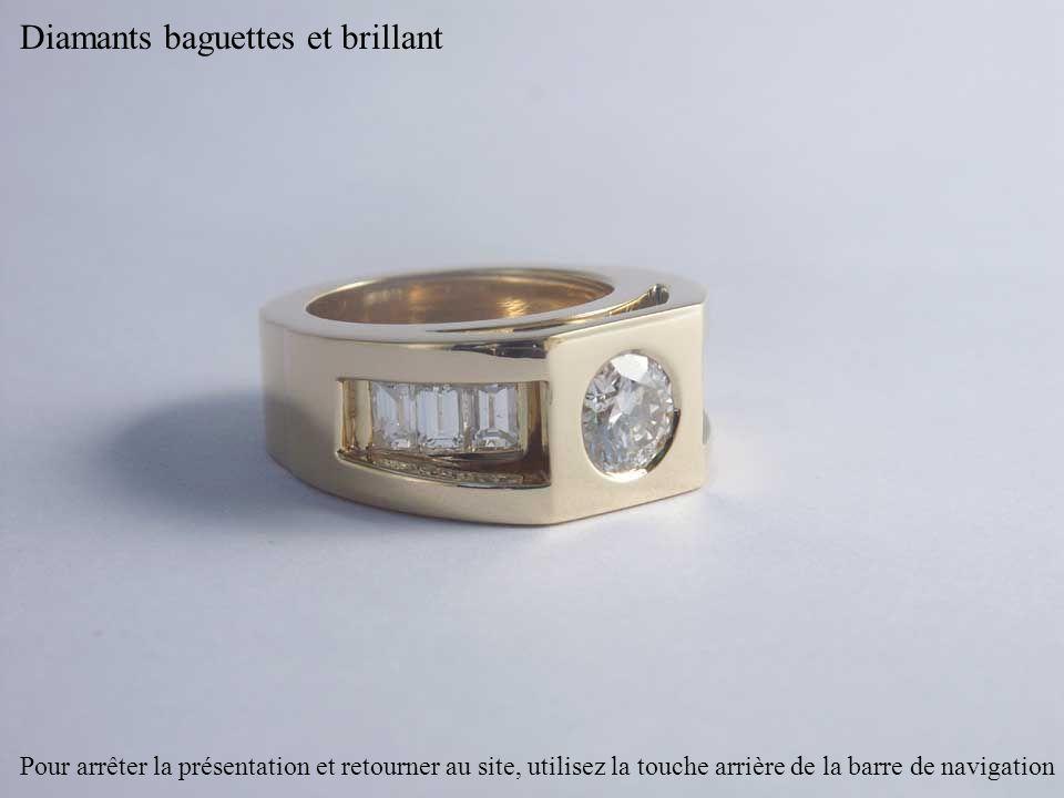 Diamants baguettes et brillant