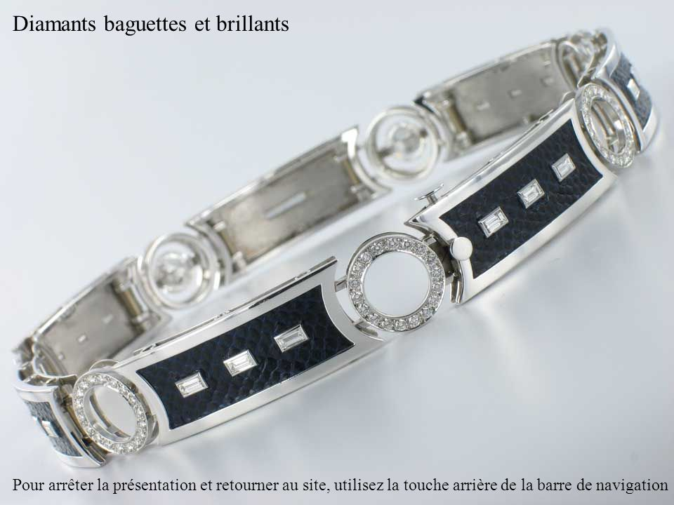 Diamants baguettes et brillants