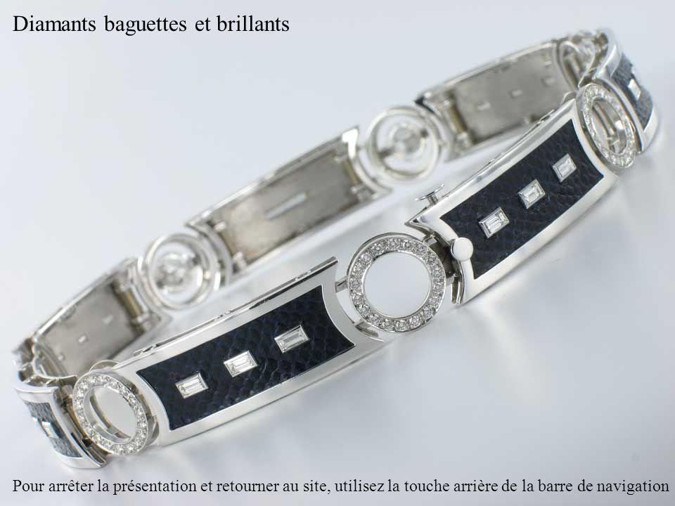 Diamants baguettes et brillants