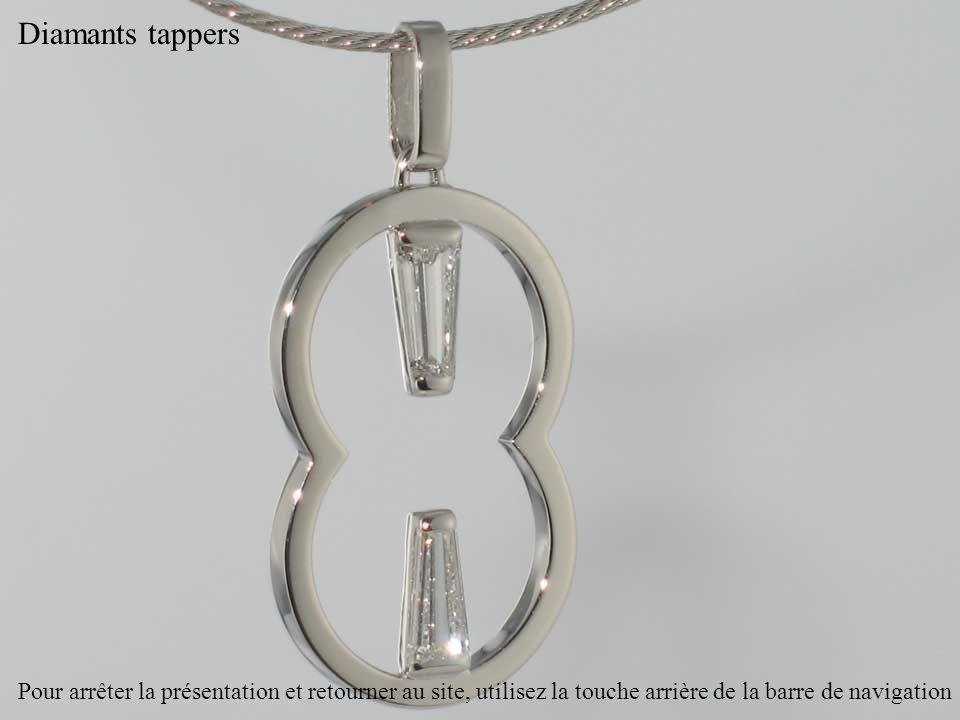 Diamants tappers Pour arrêter la présentation et retourner au site, utilisez la touche arrière de la barre de navigation.