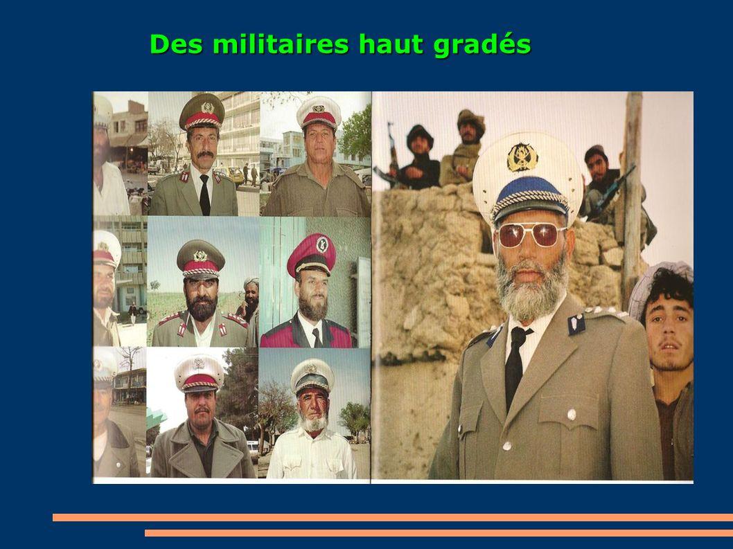 Des militaires haut gradés