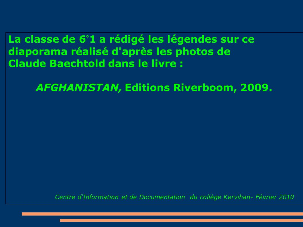 AFGHANISTAN, Editions Riverboom, 2009.