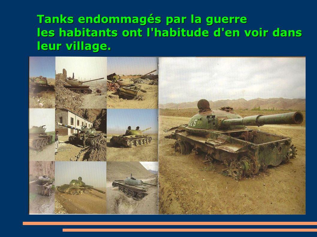Tanks endommagés par la guerre