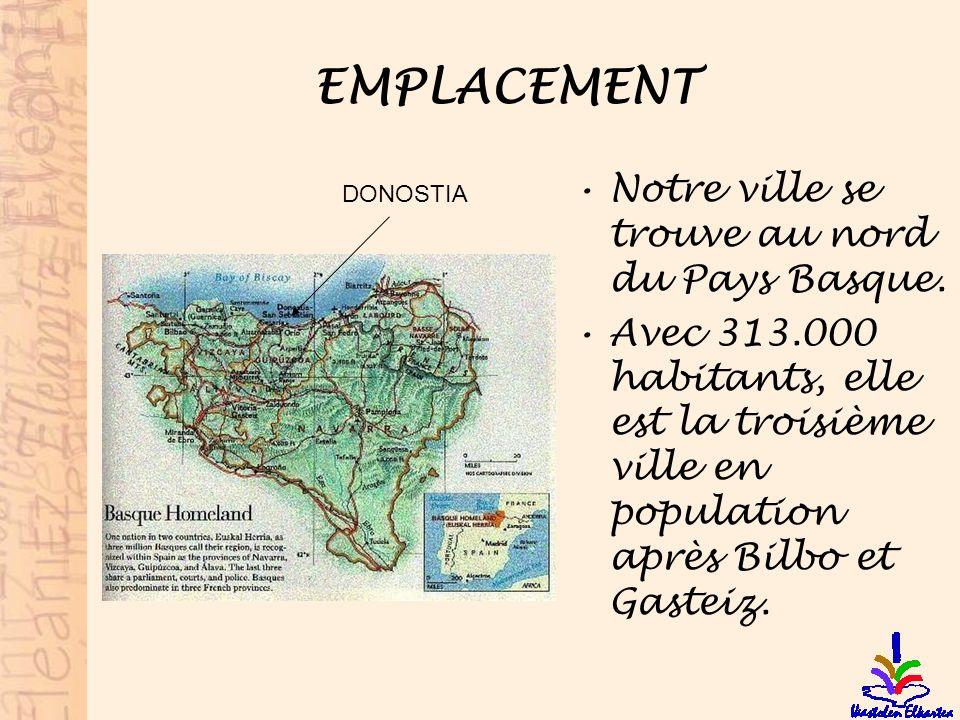 EMPLACEMENT Notre ville se trouve au nord du Pays Basque.