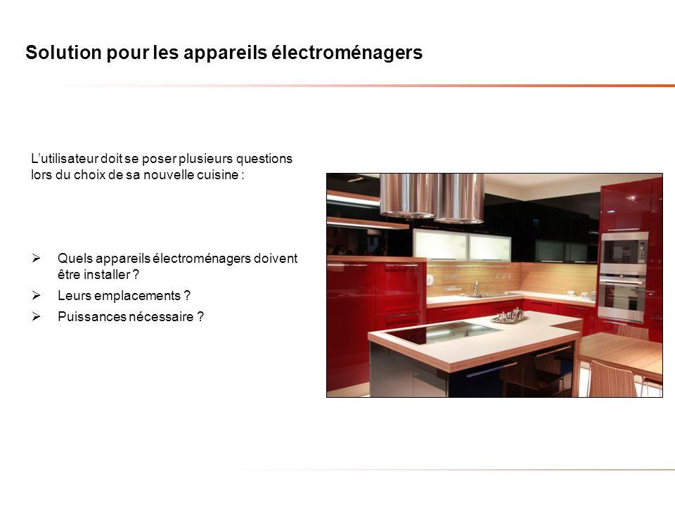 Solution pour les appareils électroménagers
