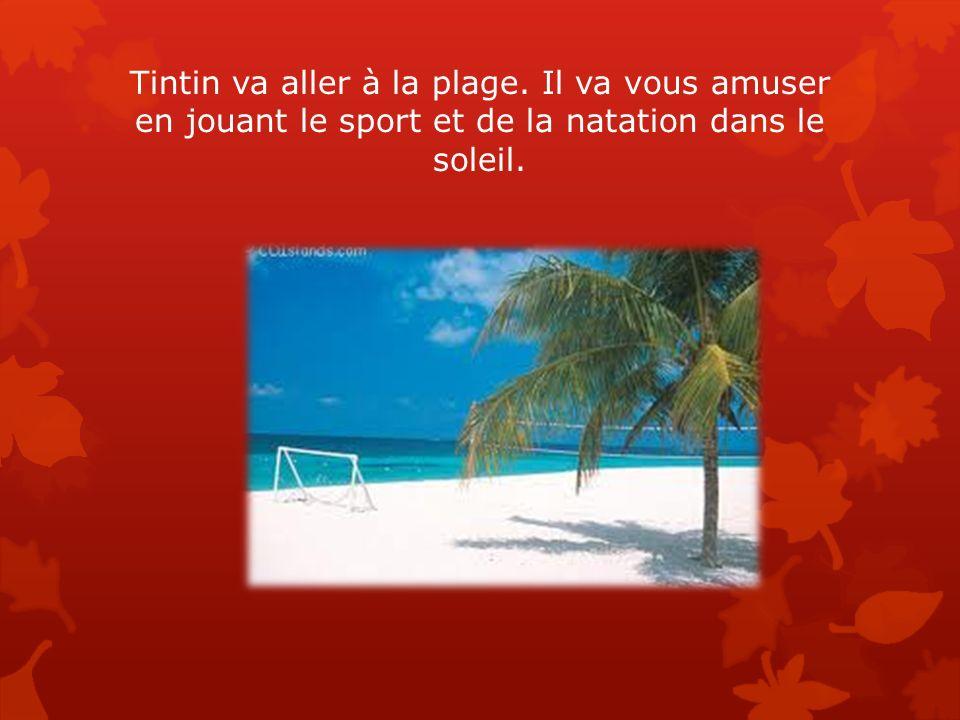 Tintin va aller à la plage