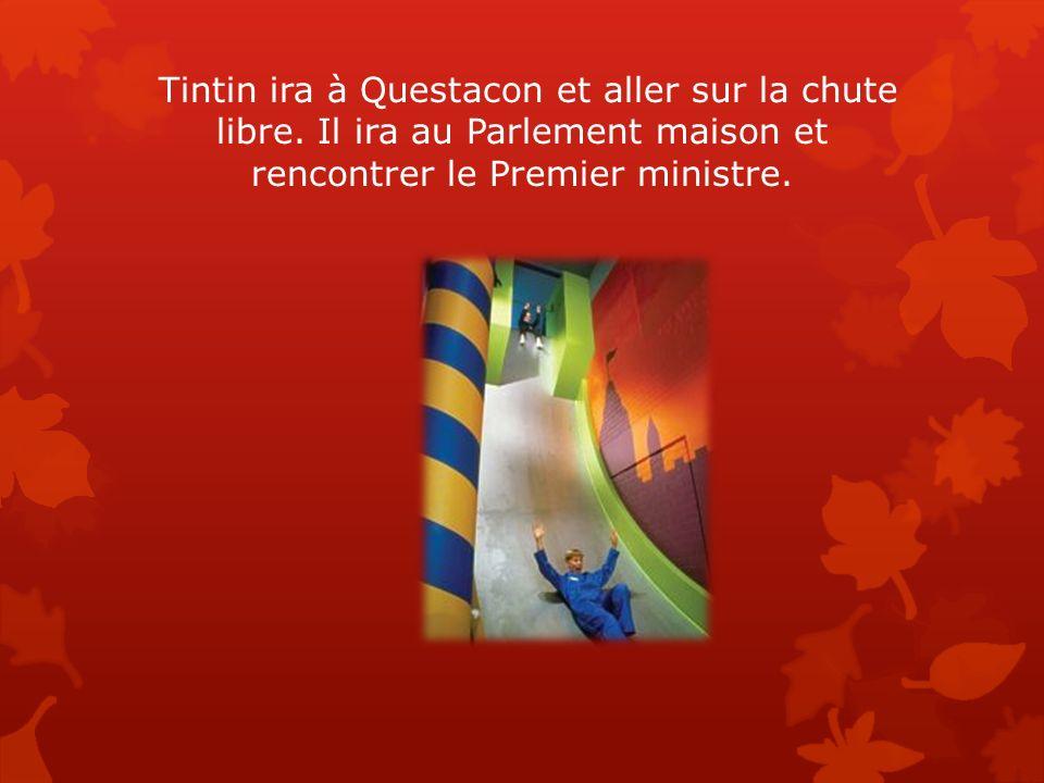 Tintin ira à Questacon et aller sur la chute libre