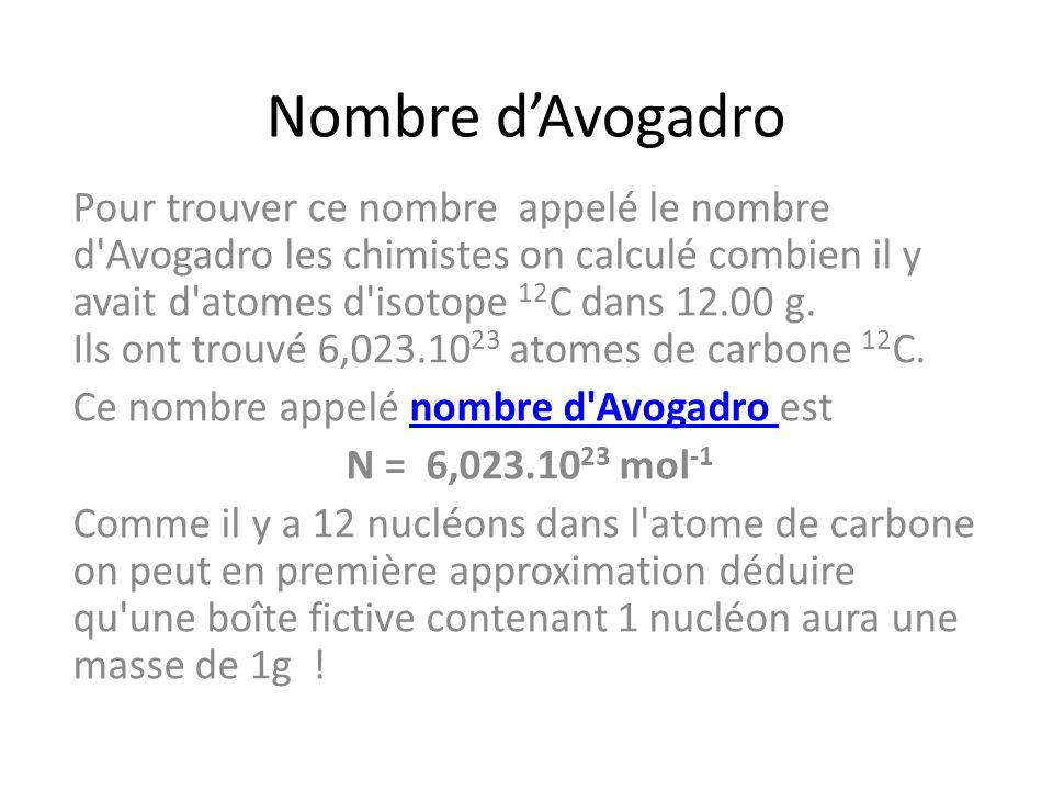 Nombre d'Avogadro