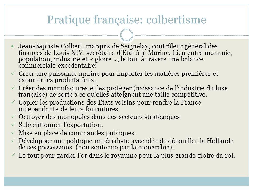 Pratique française: colbertisme