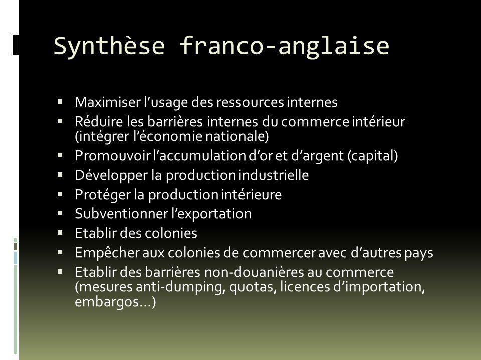 Synthèse franco-anglaise