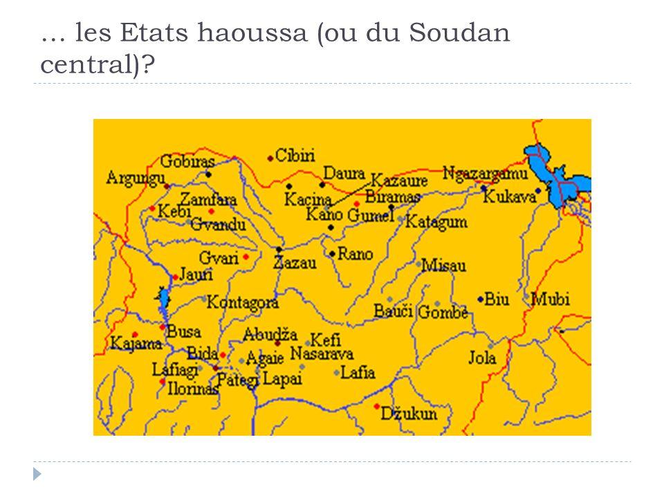 … les Etats haoussa (ou du Soudan central)