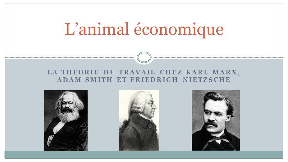 L'animal économique La théorie du travail chez Karl Marx, Adam Smith et Friedrich Nietzsche