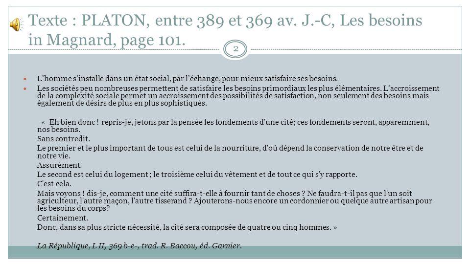 Texte : PLATON, entre 389 et 369 av. J