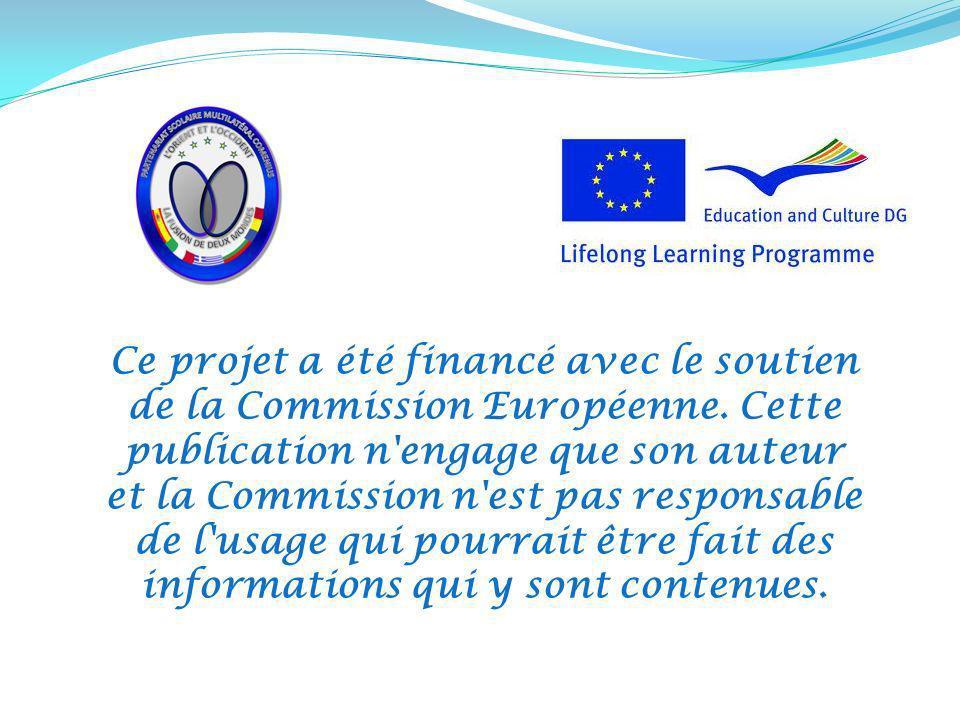 Ce projet a été financé avec le soutien de la Commission Européenne
