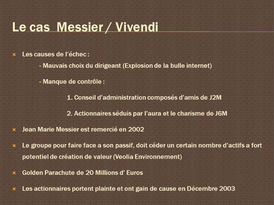 Le cas Messier / Vivendi