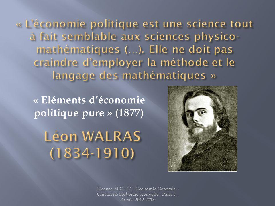 « Eléments d'économie politique pure » (1877)