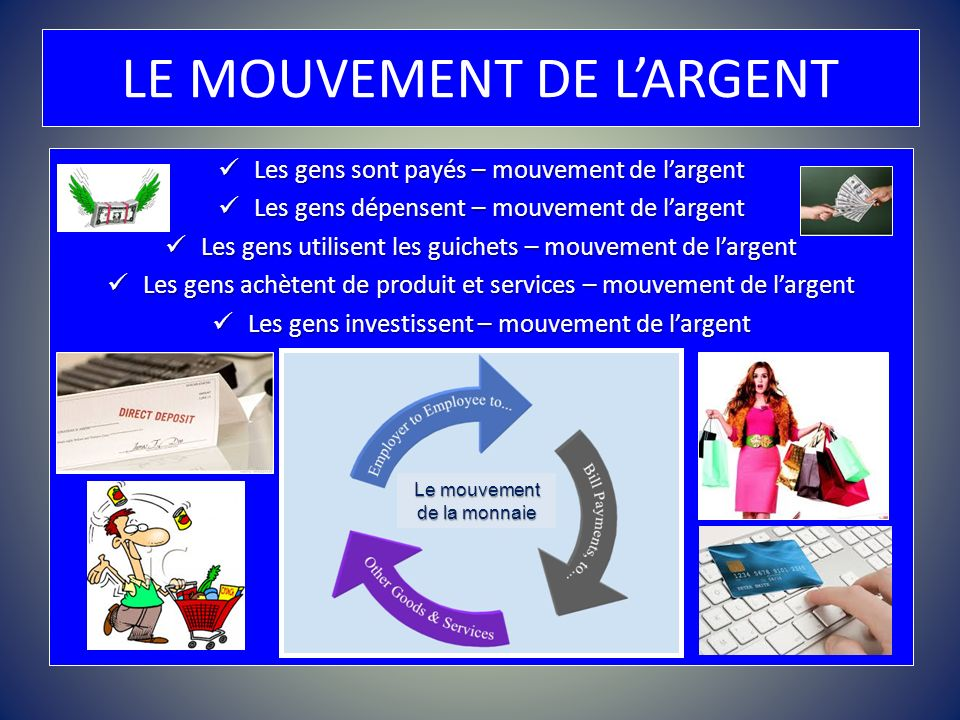 LE MOUVEMENT DE L'ARGENT