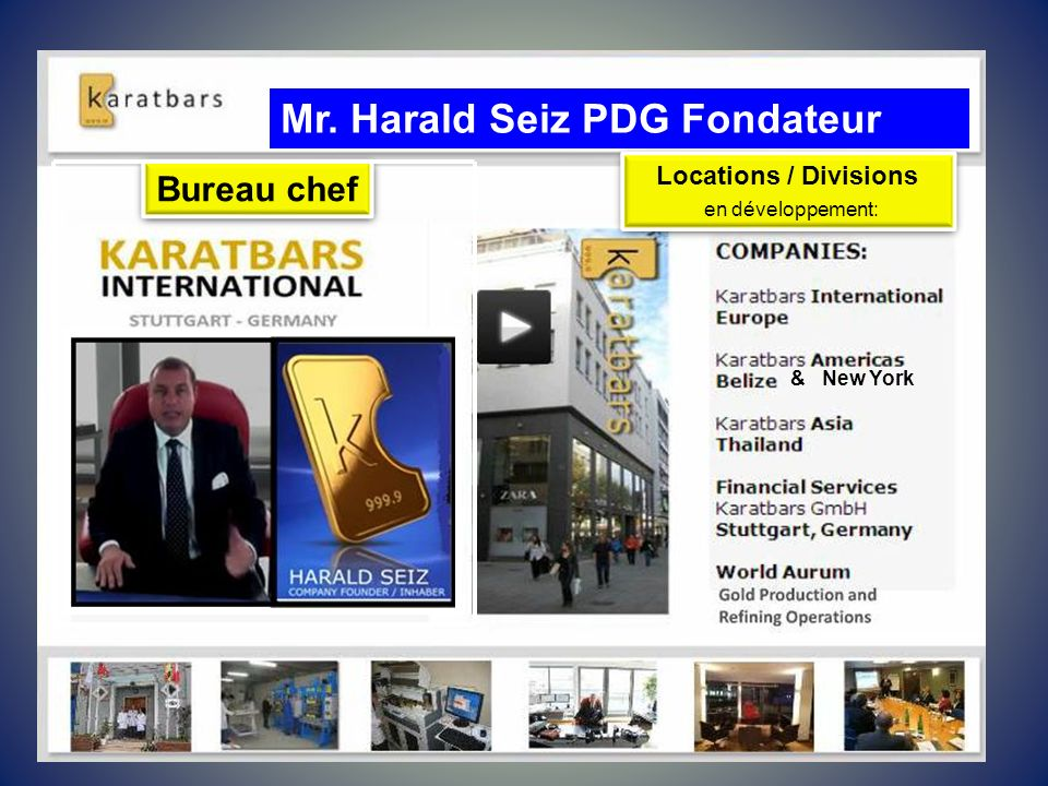 Mr. Harald Seiz PDG Fondateur
